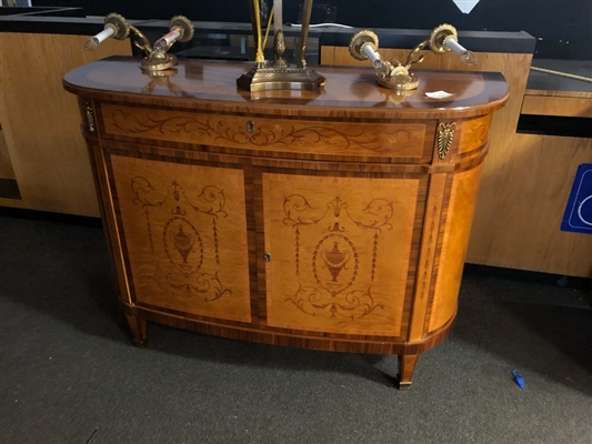 D SHAPED FRENCH STYLE CONSOLE
