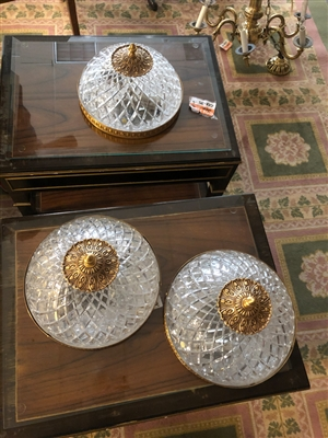 LOT OF 3 CEILING LIGHT FIXTURES