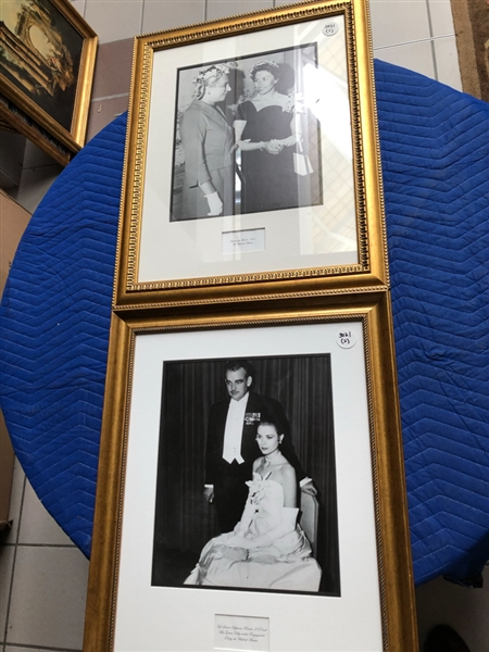 Lot of 4 photographs of royals; Prince Rainier, Grace Kelly, Ladies at Lunch, gf