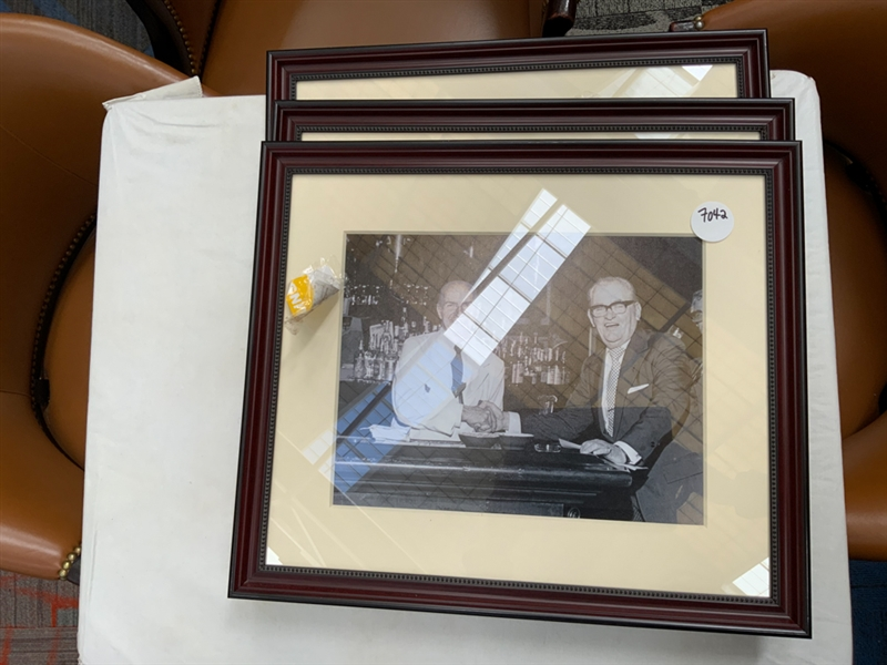 Lot of 3 Waldorf famous bartender photographs