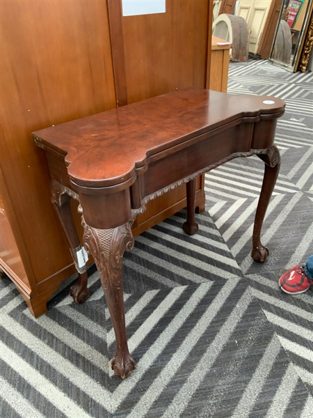 Chippendale style poker table