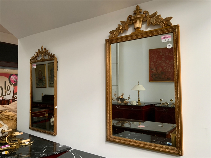 Lot of 2 French gilt mirrors