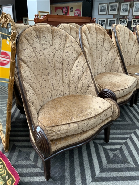 Pair of Riopelle style lobby chairs