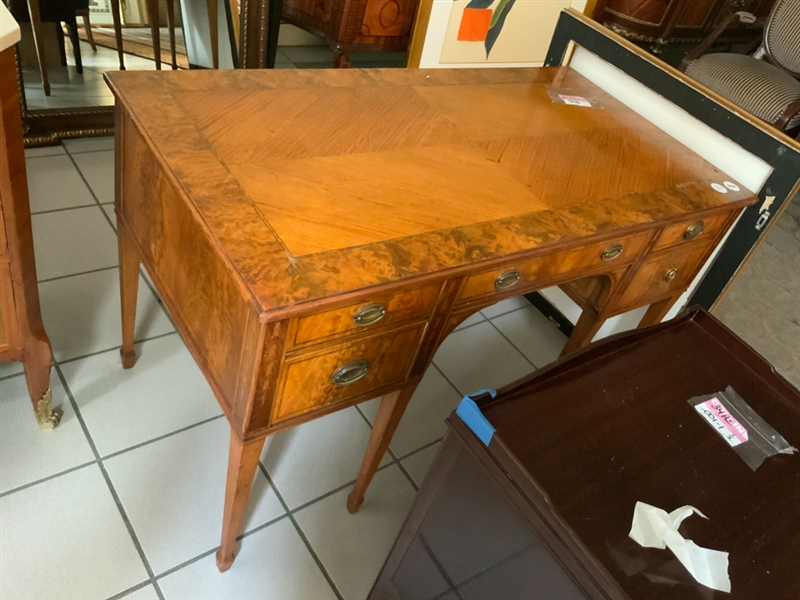 Antique English Inlaid Writing Desk