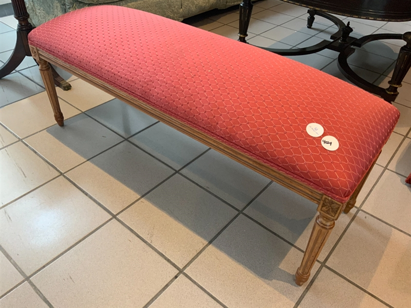 Pink Upholstered Bench