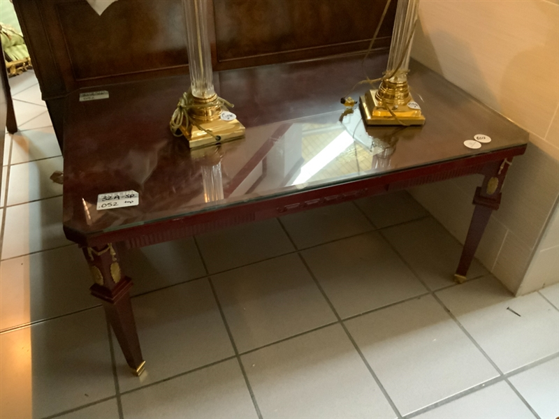 Regency Style Glass Top Center Table