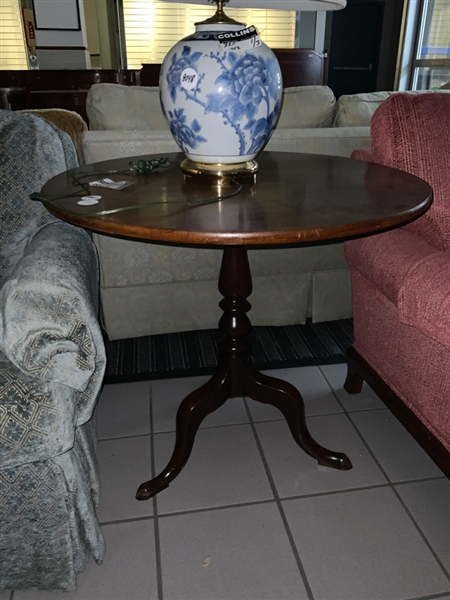 Queen Anne Style Mahogany Tea Table