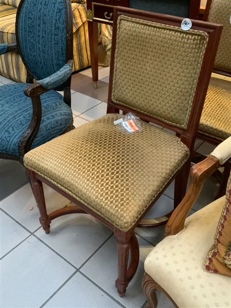 Two Regency Style Upholstered Chairs