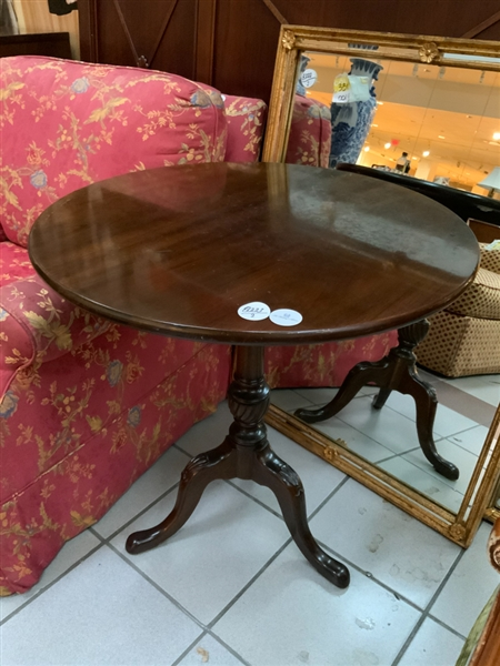 Two Queen Anne Style Mahogany Tea Tables