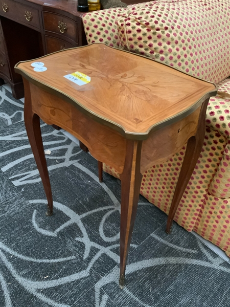 Antique French Inlaid Occasional Table