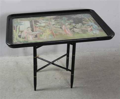 Antique Chinese Decorated Tray Top Table