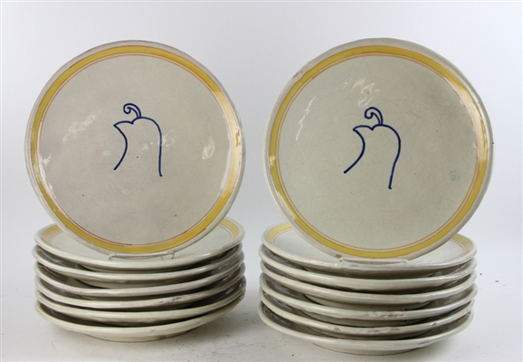 Collection of Glazed Pottery Dinner Plates