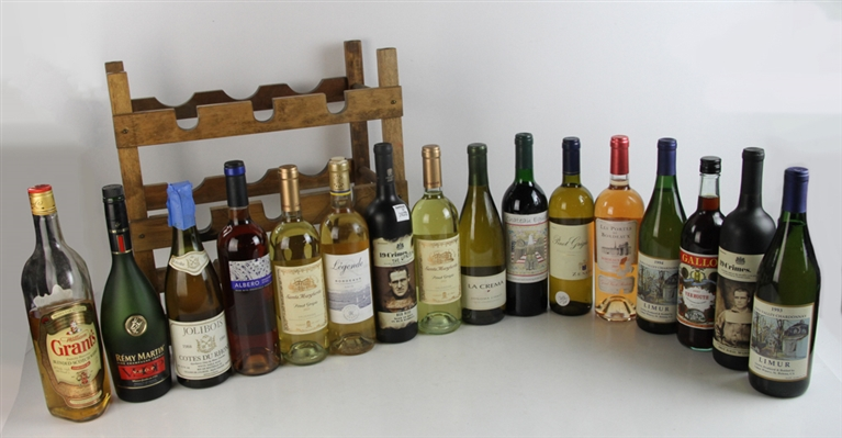 Assorted Collection of Wine Bottles