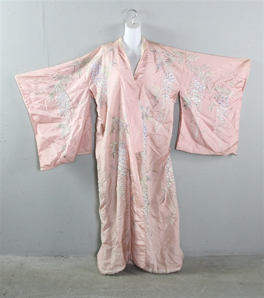 Japanese Silk Embroidered Robe
