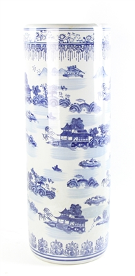 Chinese Canton Umbrella Stand and Umbrellas