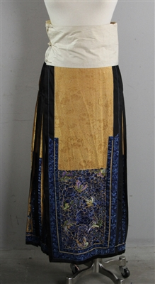 19th C Mandarin Embroidered Skirt