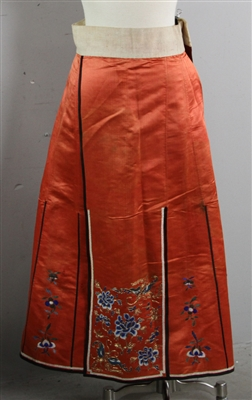 20th C Chinese Embroidered Skirt