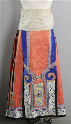 19th C Chinese Embroidered Skirt