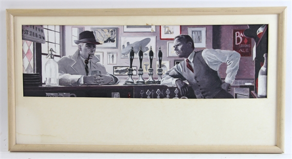 George Hughes, Bar Scene, Watercolor
