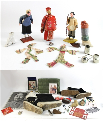 Chinese Dolls, Shoes, and Other Lots