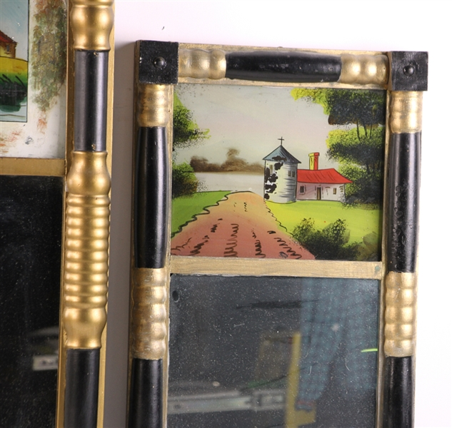 Group of Five Antique Mirrors