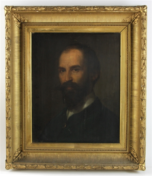 Signed Giuseppe Patania, Bearded Man Portrait