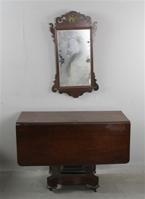 Empire Mahogany Drop Leaf Table and Mirror
