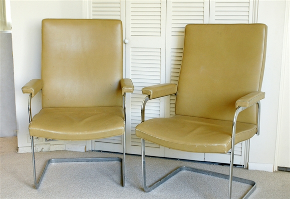Midcentury Chrome Armchairs