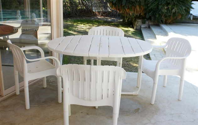 Plastic Patio Set
