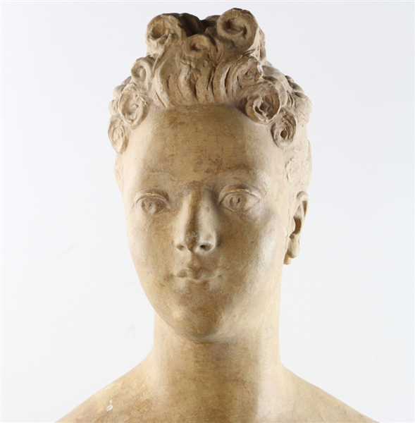 19thC French Plaster Bust