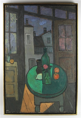 Olga Abt 1958 Window View, oil on canvas