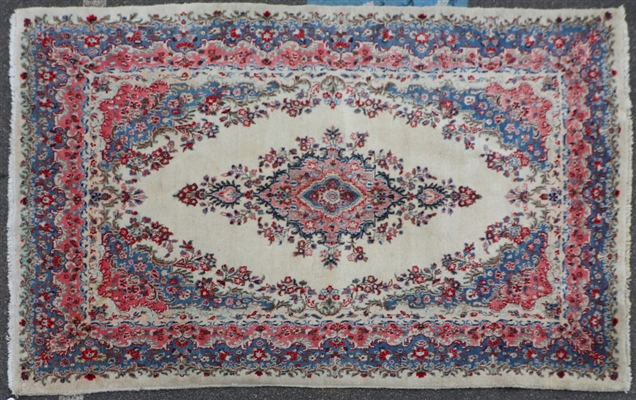 Semi-Antique Persian Kerman Rug
