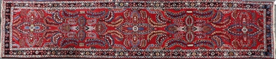 Semi-Antique Persian Kerman Runner
