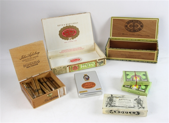 Tobacciana Lot, Cigars, Cigarettes, Cigar Box