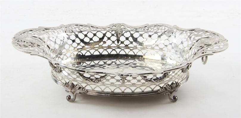 Early 19thC English Sterling Silver Center Basket