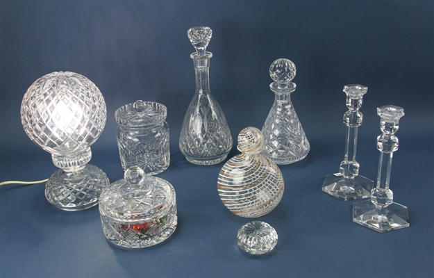 Assorted Glass Items, Waterford, Val Saint Lambert